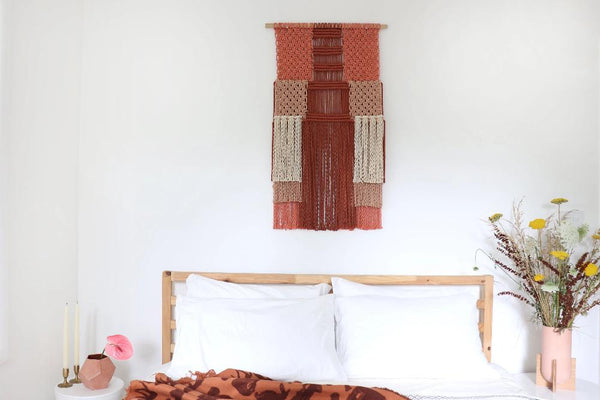 Learn Macrame with our easy colorful macrame wall hanging pattern.