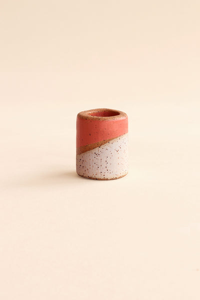 WHITE/PINK MARTINA THORNHILL CERAMIC CYLINDER BEAD - SET OF 3