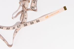 "Modern Macramé's custom 60"" fabric tape measure"
