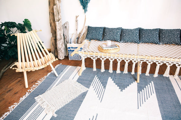Modern Macrame Cotton Rope Cot Bed Daybed