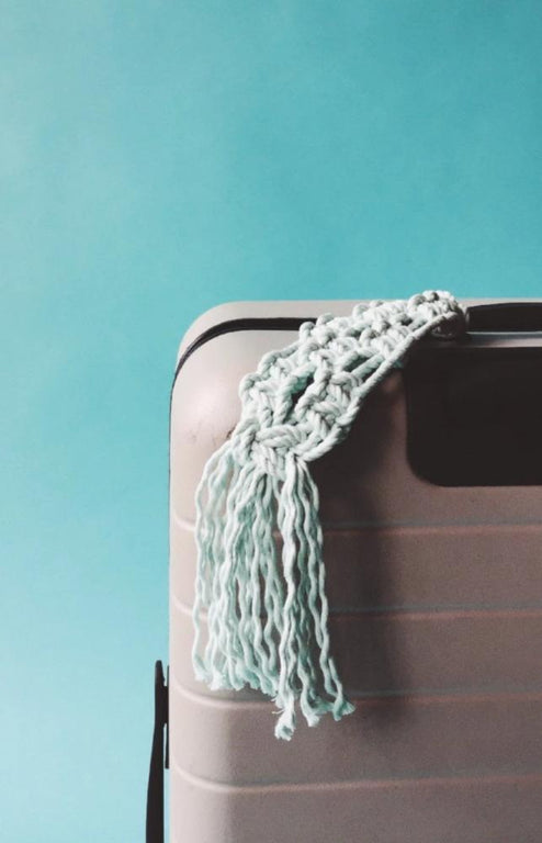 FREE macrame luggage pattern adornment