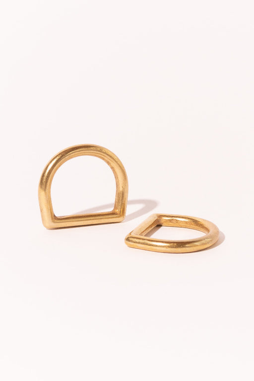 Brass D Ring Set of 2