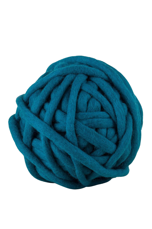 tough love teal hand felted yarn