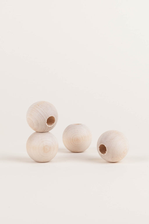 Natural Wood Beads - Large Round, Beads - MODERN MACRAMÉ