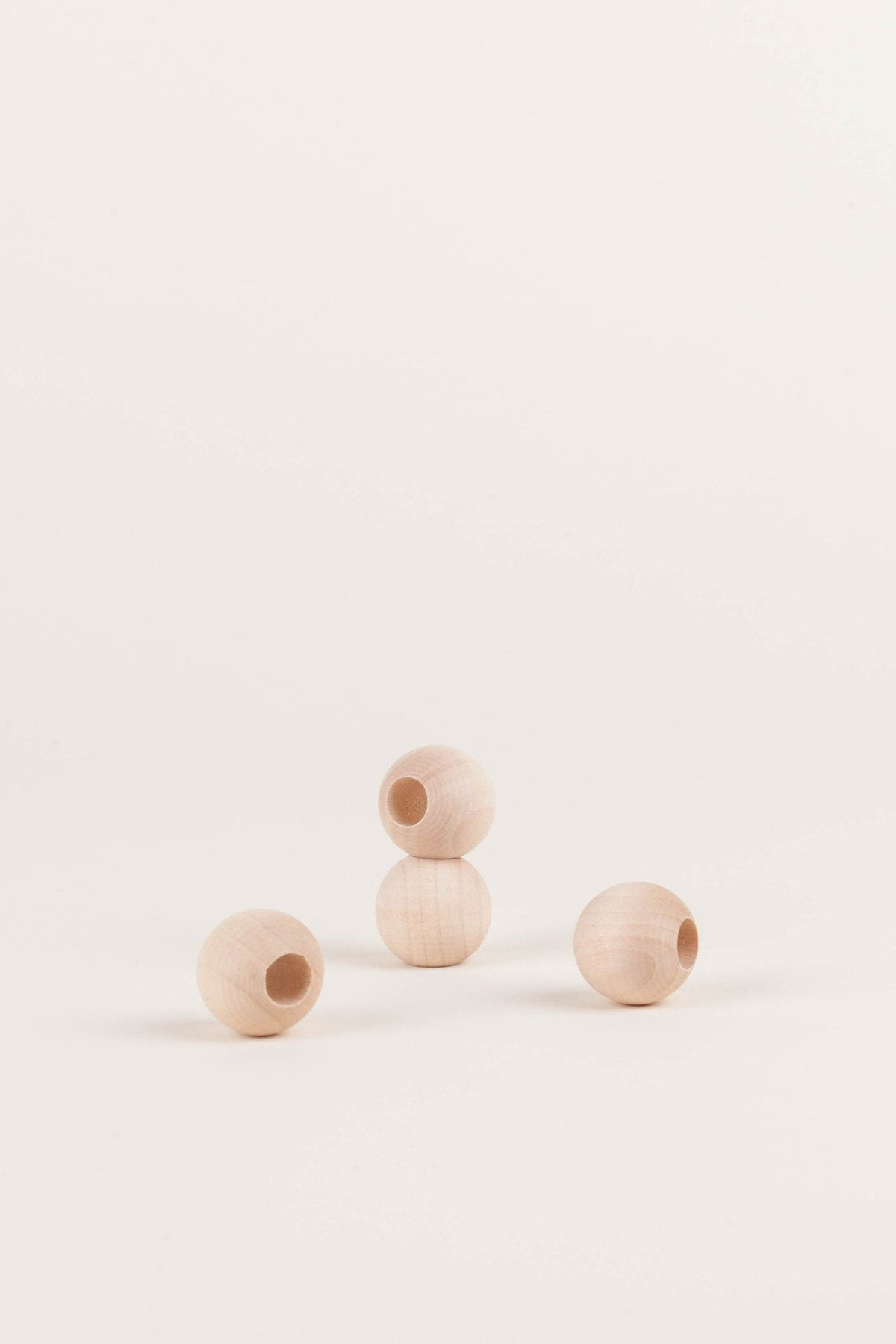 Natural Wood Beads - Round, Beads - MODERN MACRAMÉ