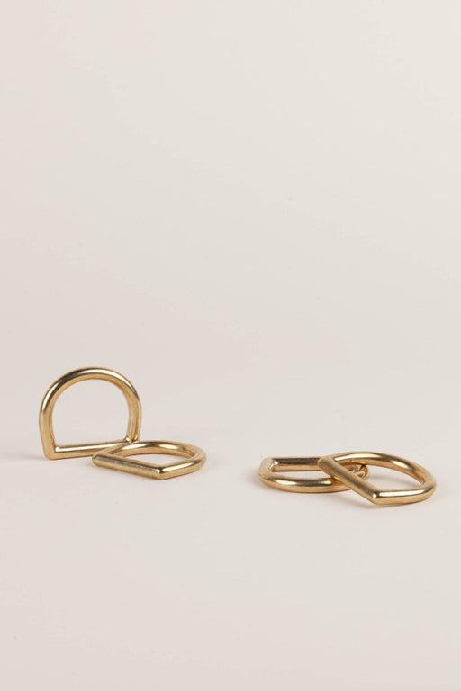 Solid Brass D Ring, DIY - MODERN MACRAMÉ