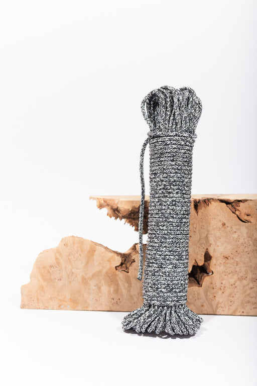 black and white melange recycled rope