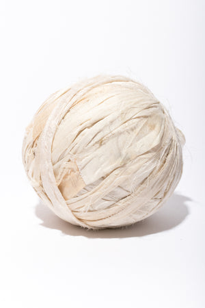Milk Silk Sari Ribbon Ball perfect for a macra-weave