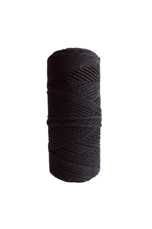 black 2mm 100% oeko tex certified cotton string or cord
