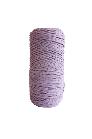 2mm 100% oeko tex certified cotton string or cord  - lavender