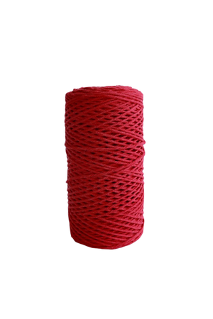 2mm 100% oeko tex certified cotton string or cord - in red