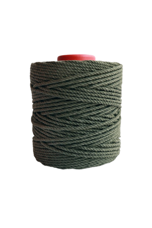 600 feet of 5mm 100% cotton rope - army green