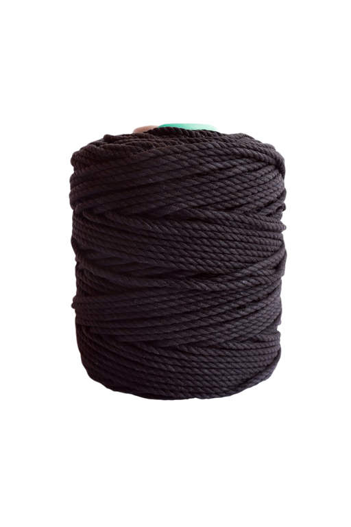 600 feet of 5mm 100% cotton rope - black
