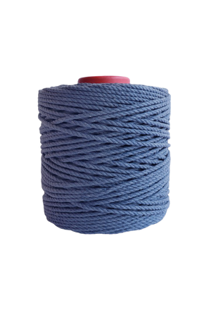 600 feet of 5mm 100% cotton rope - blue