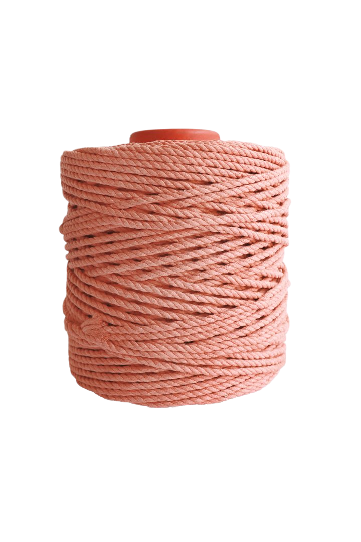 600 feet of 5mm 100% cotton rope - blush