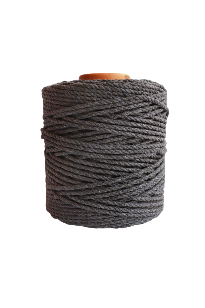 600 feet of 5mm 100% cotton rope - dark gray