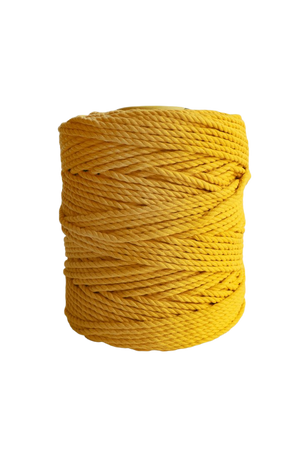 600 feet of 5mm 100% cotton rope - goldenrod