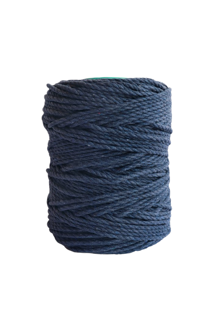 600 feet of 5mm 100% cotton rope- Indigo