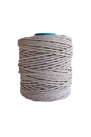 600 feet of 5mm 100% cotton rope - light gray