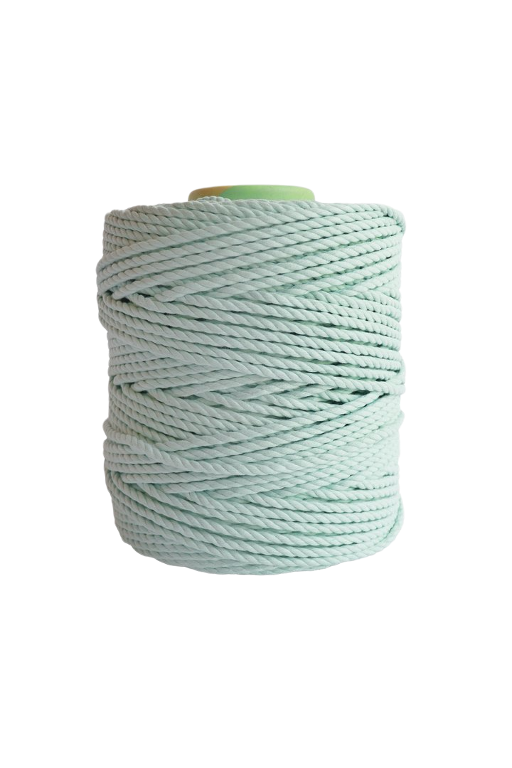 600 feet of 5mm 100% cotton rope - mint