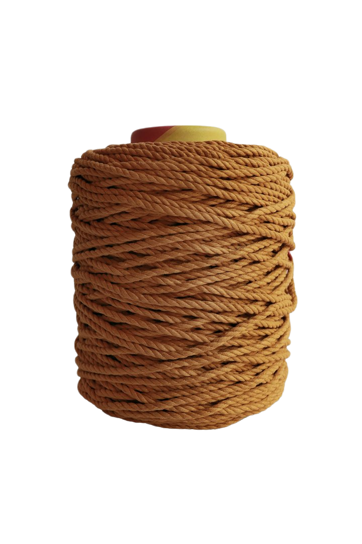 600 feet of 5mm 100% cotton rope - mustard