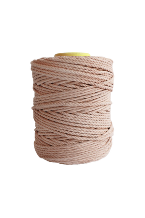 600 feet of 5mm 100% cotton rope - peach