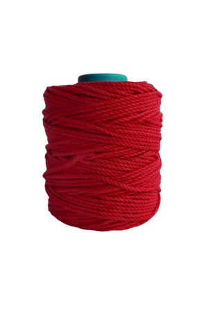 600 feet of 5mm 100% cotton rope -red