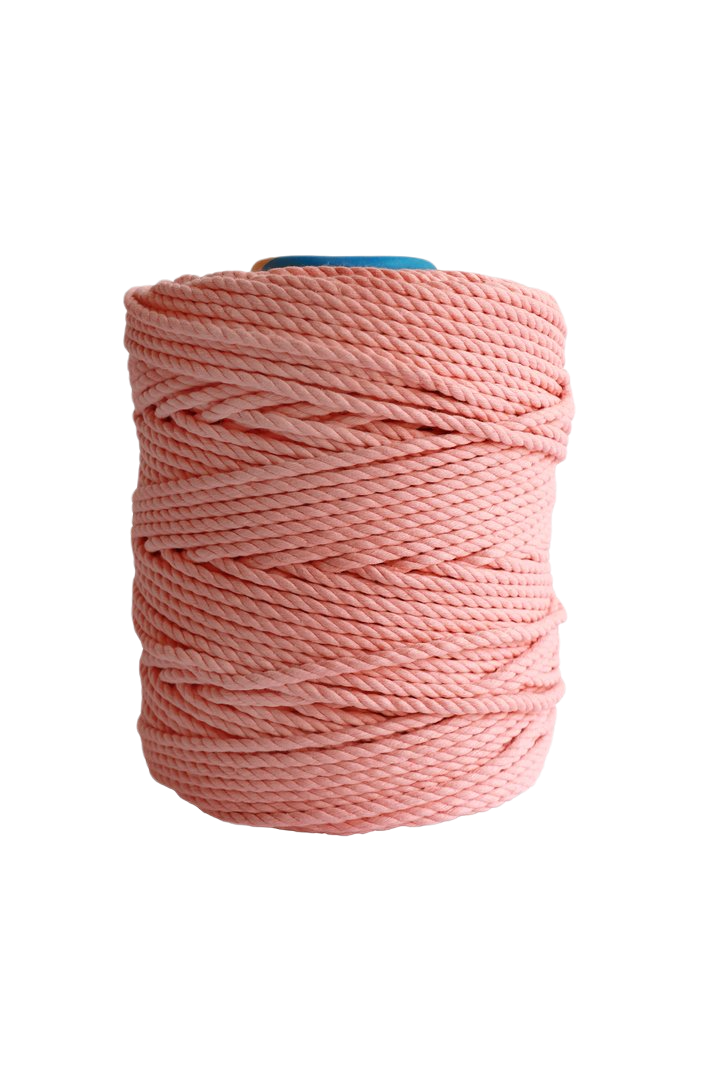 600 feet of 5mm 100% cotton rope - Sherbert