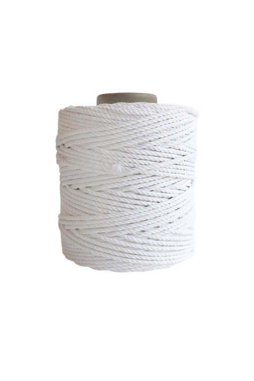 600 feet of 5mm 100% cotton rope - Bright White