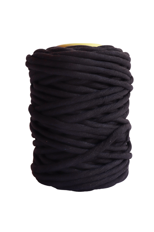 Black single ply string for macrame wall hangings and art