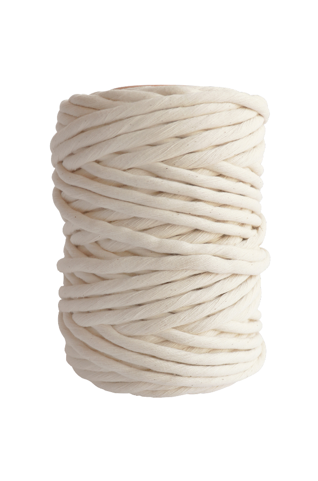natural 9mm cotton cord or string for craft and macrame