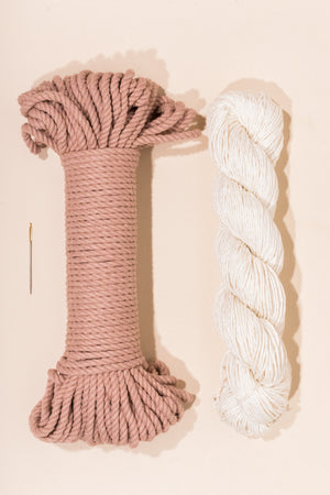peach  cotton rope and linen yarn from Flax and Twine