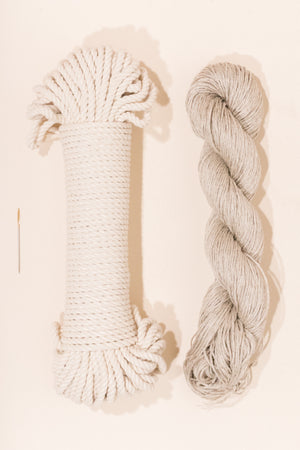 cotton rope and linen yarn from Flax and Twine