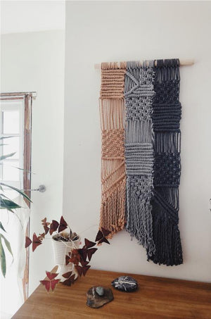 Modern Macrame Sandstone Patchwork Wall Hanging DIY Pattern Download
