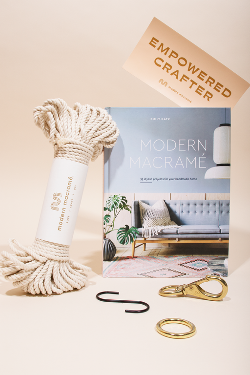 Modern Macramé Gift Set. Comes with everything you need to make the simple plant hanger pattern