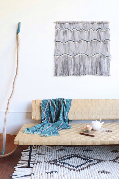 DIY Macrame wall hanging pattern tutorial Guatemala Waves