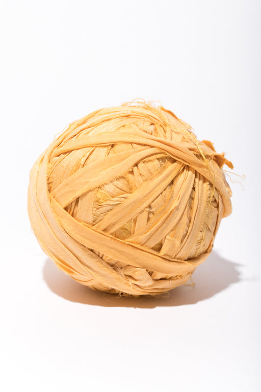 Buttercup Silk Sari Ribbon Ball