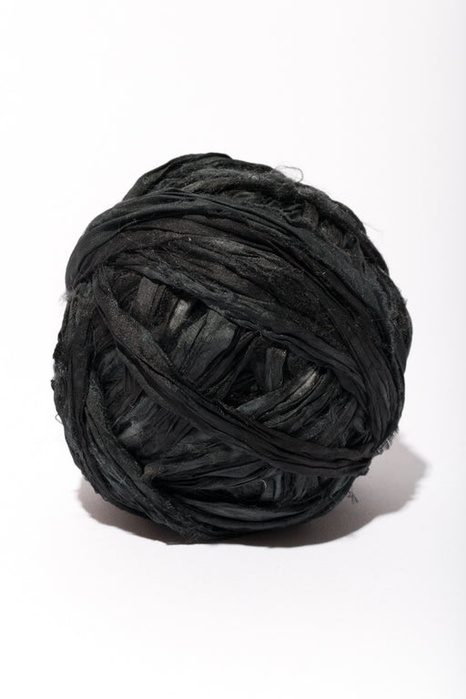 Onyx Silk Sari Ribbon Ball