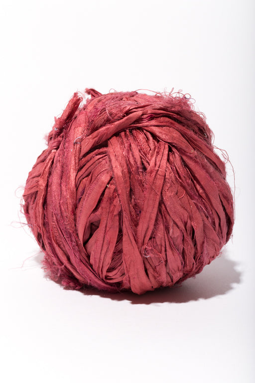 Pinot Noir Silk Sari Ribbon Ball