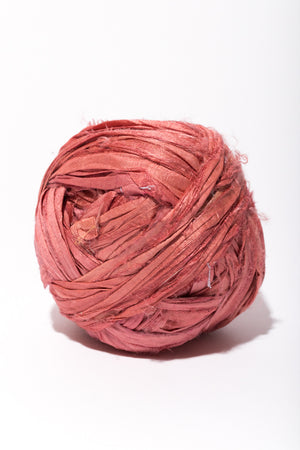 Plum Silk Sari Ribbon Ball