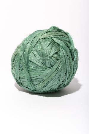Seafoam Silk Sari Ribbon Ball, use in your next tapestry