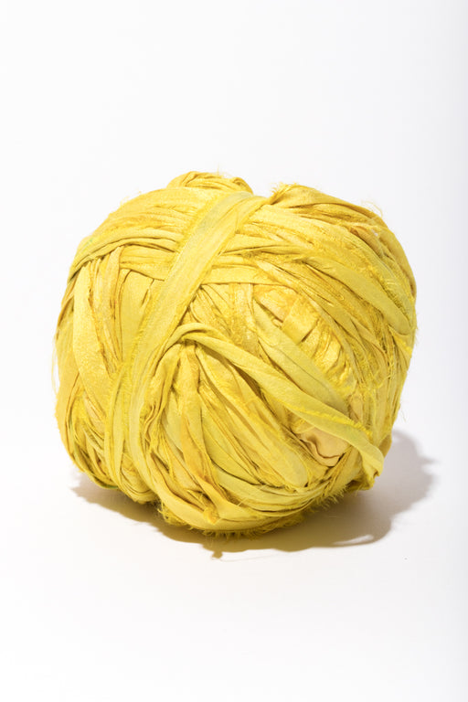 Sun colored Silk Sari Ribbon Ball