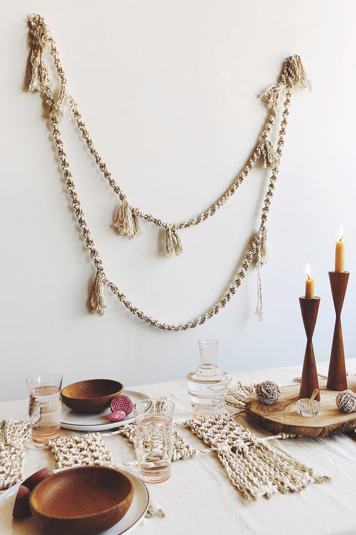 Modern Macrame winter Garland pattern DIY