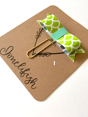 Handmade Bow Paper Clips