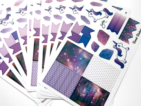 Dark Unicorn Sticker Sheet - PROMO