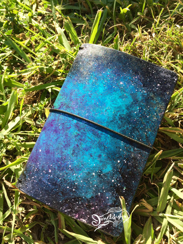 Glittery Mermaid with Nebula Vignette Field Notes (Pocket) Ready Made Bifold