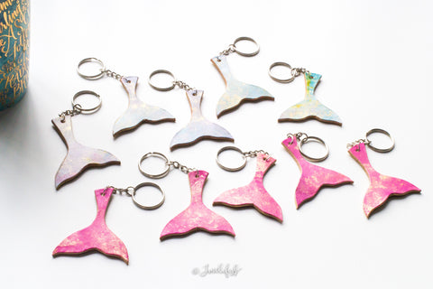 Handmade Mermaid Tail Leather Keychains