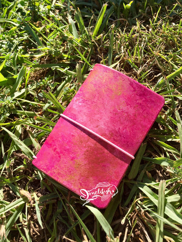 Pink Mermaid with Copper A7 Ready Made Bifold