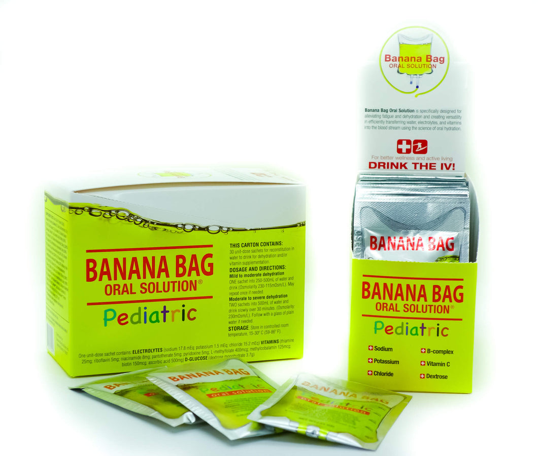 Banana Bag Oral Solution - PEDIATRIC; 30-count retail box