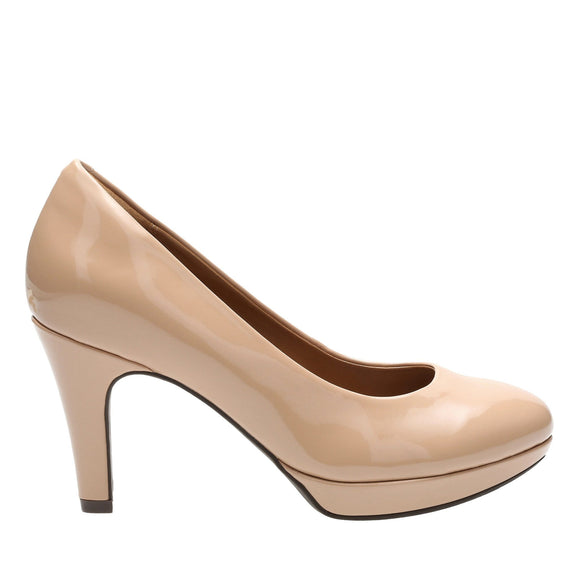Clarks Brier Dolly Nude Patent Pump Shoe